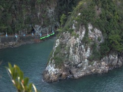The Cove in Taiji, Japan tucked away in a National Park is a natural fortress and the site of the largest slaughter of dolphins in the world.