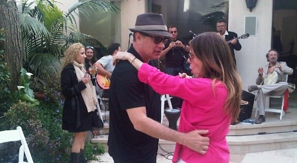 Tom Hanks at a Greek Easter party in Hollywood