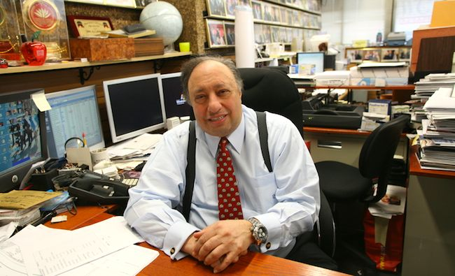 John Catsimatidis, CEO of Red Apple Group , at his office in NYC. Credit: Heuichul Kim