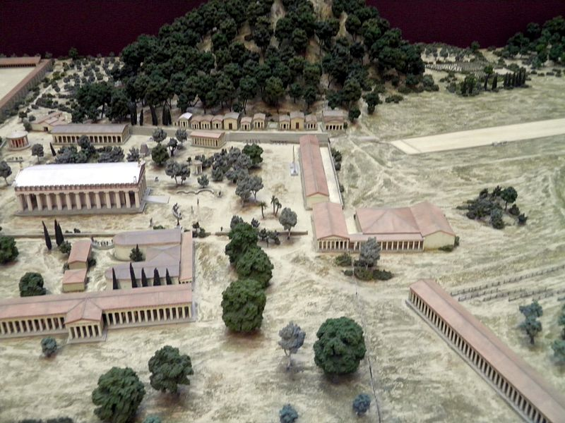 Model ancient Olympia