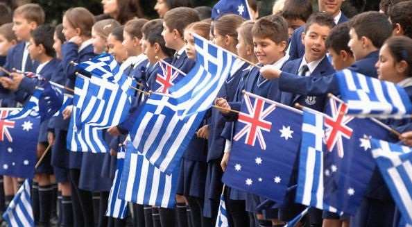 Young children proudly present their true colours