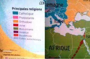 Muslim Greece in Canadian school maps