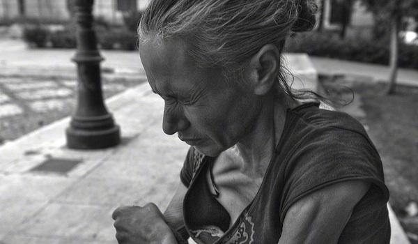 A drug addict in Athens