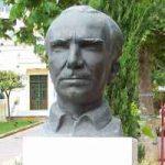 The now stolen bust of writer Nikos Kazantzakis