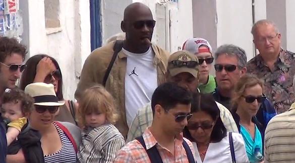 Michael Jordan in Mykonos, Greece
