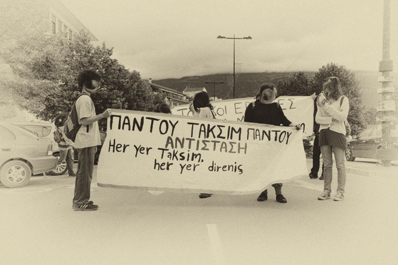 Greeks protest in Yianena, Greece in solidarity to Turkish protesters in Taksim square