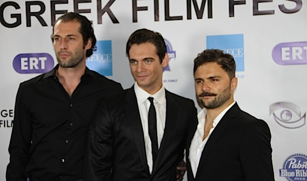 Writer Asimakis Pagidas, actor Theo Alexander and director Spiros Stathoulopoulos of Meteora attending the 2013 Los Angeles Greek Film Festival