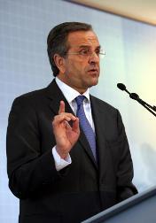 Greece Prime Minister Antonis Samaras has pledged no more austerity measures. [AFP]