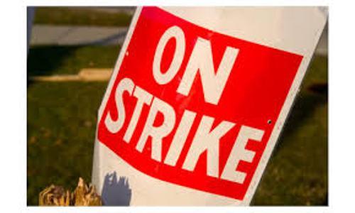 on strike