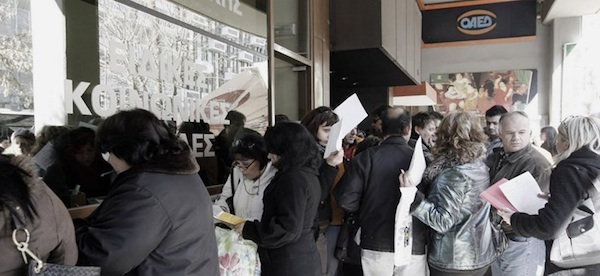 The long - and getting longer - jobless lines in Greece