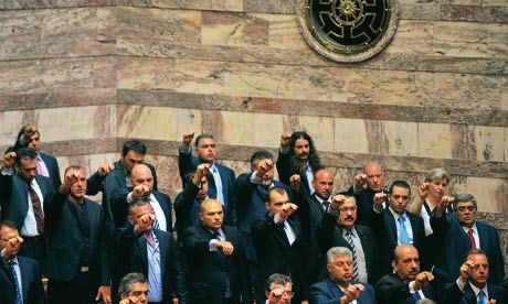 Already, six of Golden Dawn's MPs are under arrest