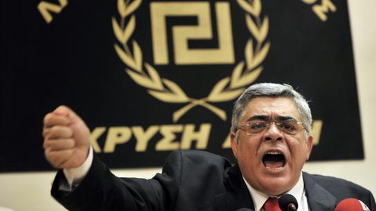 Golden Dawn leader Nikos Michaloliakos has often denounced Parliament