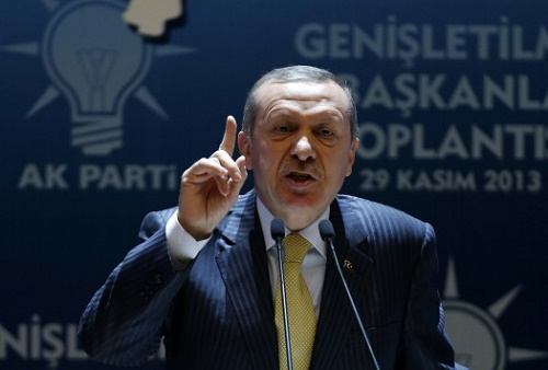 Turkish Prime Minister Recep Tayyip Erdogan says Cyprus doesn't exist
