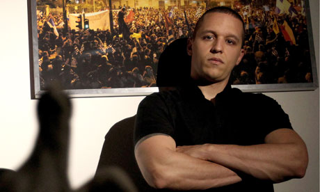 Ilias Kasidiaris is Golden Dawn's spokesman despite being prosecuted for a number of crimes