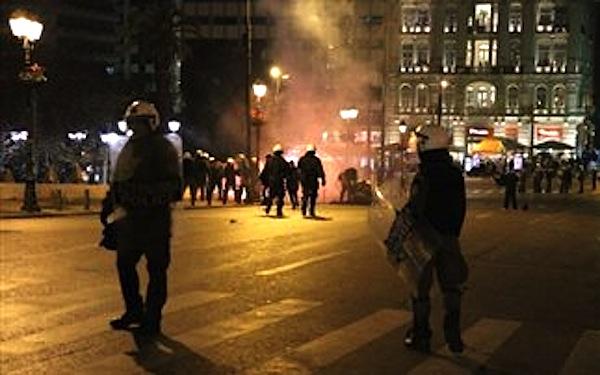 Greek Riot Police Clash With Anti-Fascists