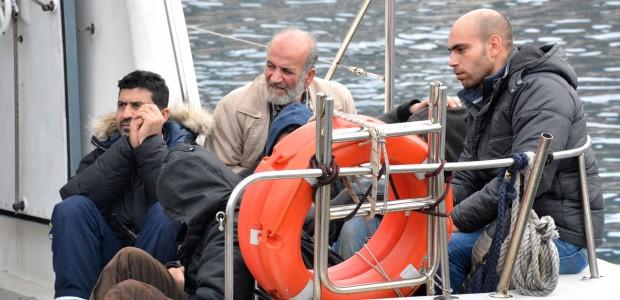 Survivors of the migrant boat sinking near Turkey