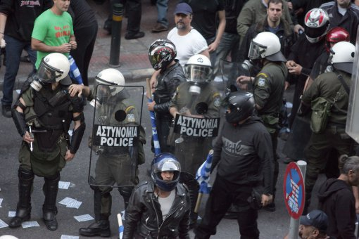 Golden Dawn has reportedly infiltrated the police force