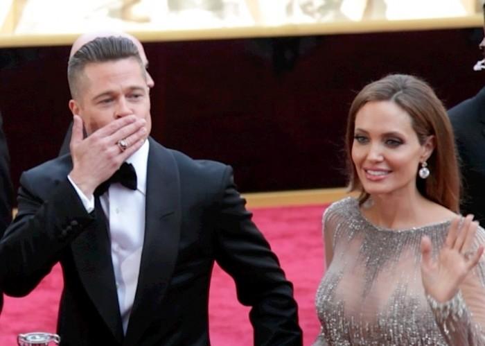 Oscars 2014 Red Carpet Arrivals: Brad Pitt and Angelina Jolie