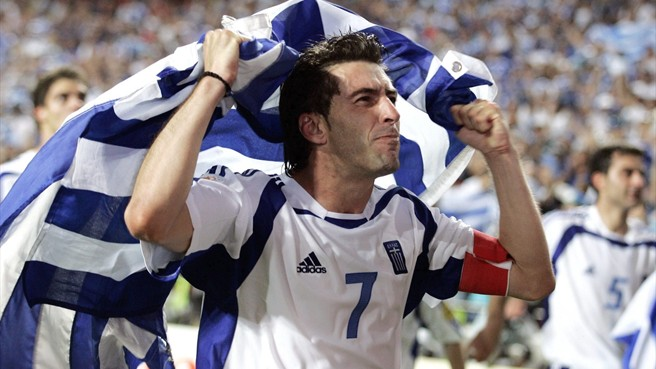 Theodoros Zagorakis was a star of the Greece's 2004 Europe soccer champs