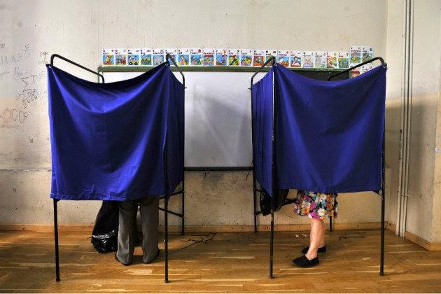 Greek polling booths