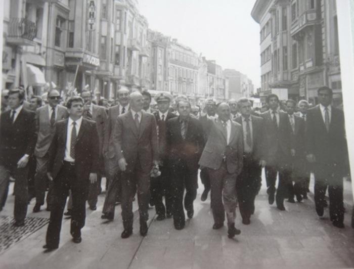 Karamanlis and Zhivkov in Bulgaria
