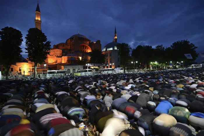 Protesters Pray For Hagia Sophia
