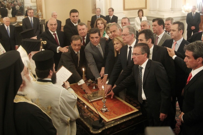 The partially new Cabinet gets sworn in, religiously