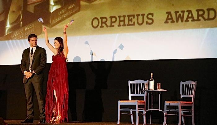 Orpheus Awards Hosts Christos Vasilopoulos and Chryssa Loucas