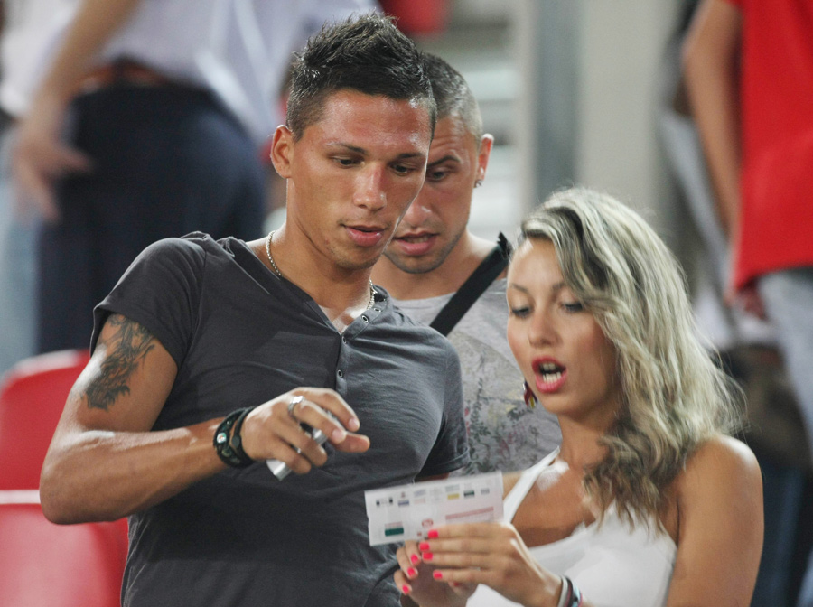Jose Holevas and his girlfriend