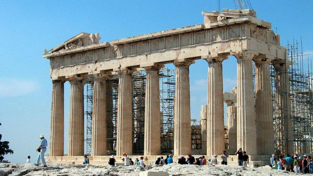 Ancient Greek temple of Parthenon