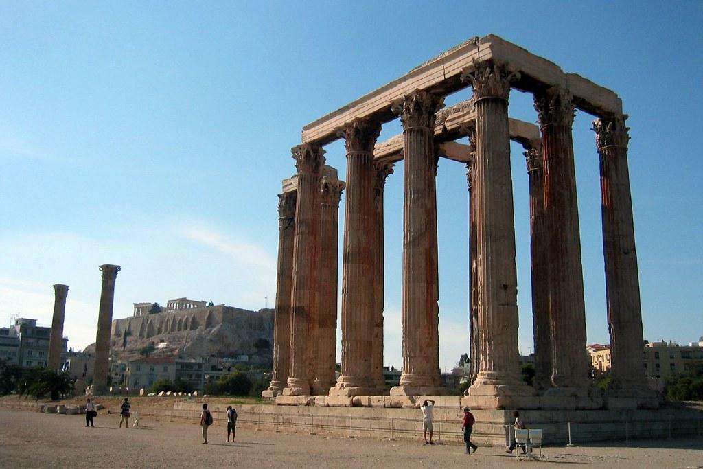 Ancient Temple of Olympian Zeus, Greece