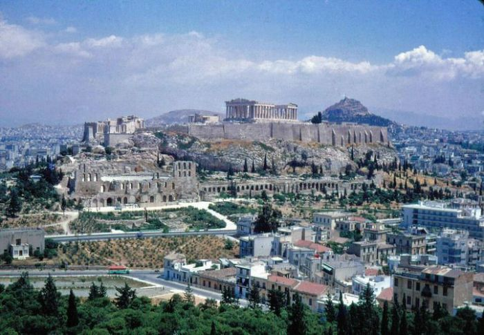 A view of Acropolis from Filopappou Hill