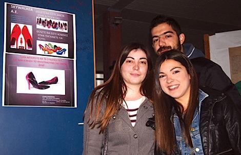 Lukas Karakides, Athena Tsiligaridis and Calliope Tatsis