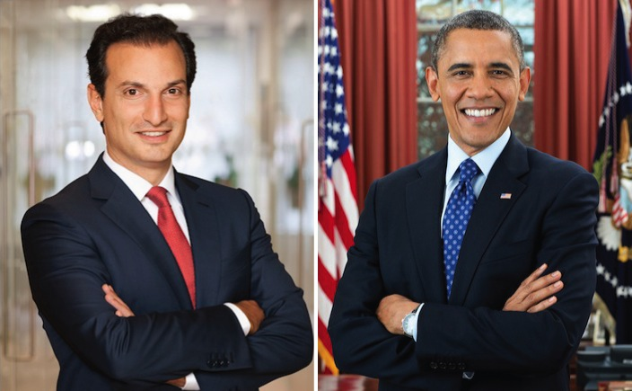 Libra CEO George Logothetis and President Obama