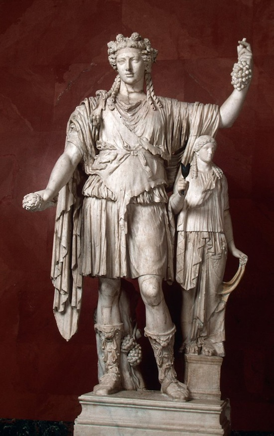 Figure 5. Statue of Dionysus with a priestess, a Roman copy from the 2nd century AD of a Greek original of the 4th century BC (Hermitage) – see also Figure 6