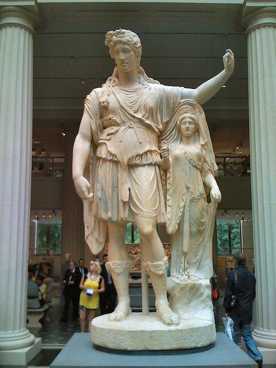 Figure 6. Statue of Dionysus with a priestess, a Roman copy from the Augustan age of a Greek original of the 4th century BC (Metropolitan Museum) – see also Figure 5