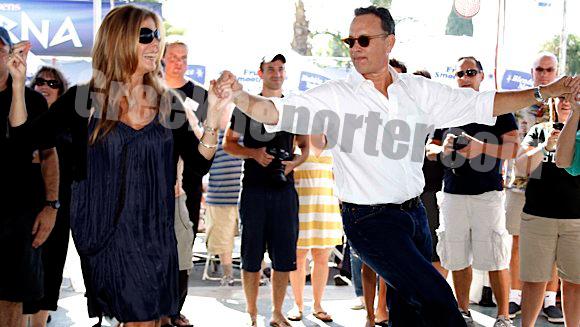Tom Hanks and Rita Wilson at the LA Greek Festival