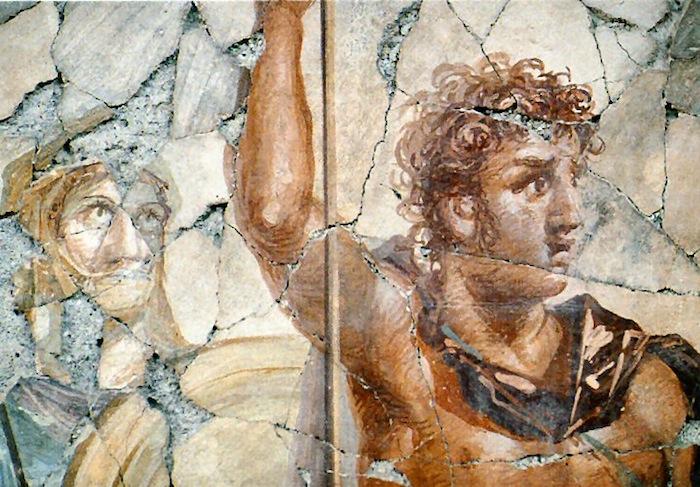 Figure 3: Mural depicting a reddish blond Alexander from Pompeii