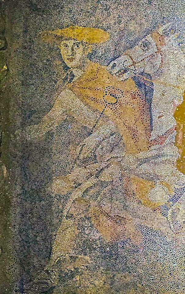 Figure 6: Hermes in the newly discovered mosaic: a portrait of Alexander the Great at twenty?