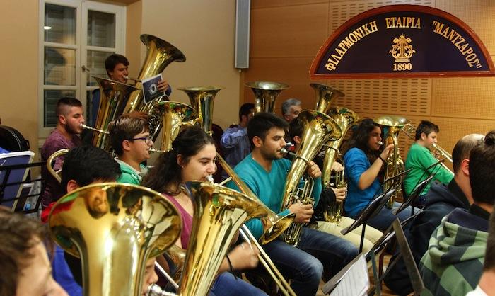 Rehearsals at Mantzaros Philharmonic Society