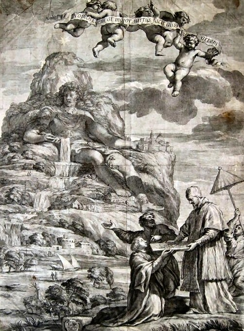 Figure 9. The proposal of Deinocrates to Alexander to carve Mt Athos into his image