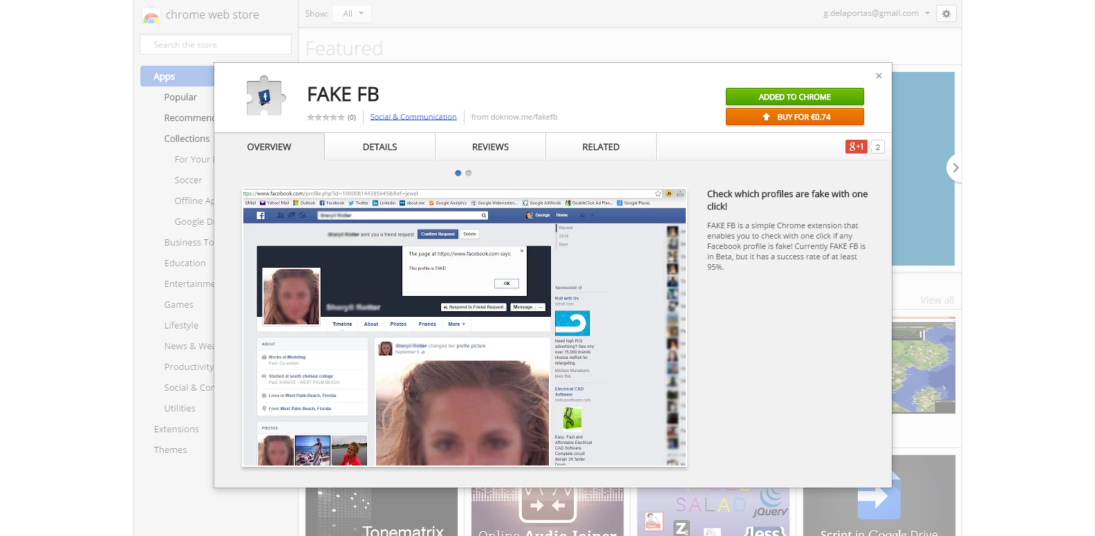 FAKE FB On Web Store