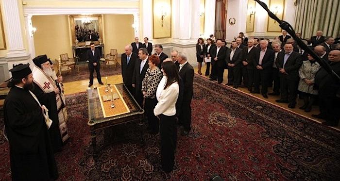 Greece New Govt Sworn