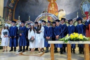 2013 Graduates of Stephen and Arete Cherpelis Greek Aft5ernoon School,