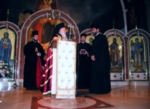 His All Holiness Bartholomew I of Constantinople, honoring Rev Paul Palesty, 3/17/2004