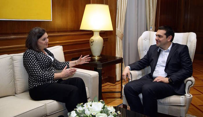 U.S. Assistant Secretary Nuland Meets with Alexis Tsipras in Athens, Greece