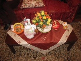 Easter decorations at  Macarouni home