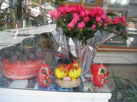 Easter store window