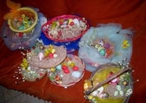 Easter baskets at Xenonas Elixirion, Mani