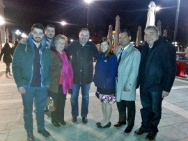 Macarouni Family with Dr. Despina and husband Laurentino (5th and 6th from left to right) at Easter night services.